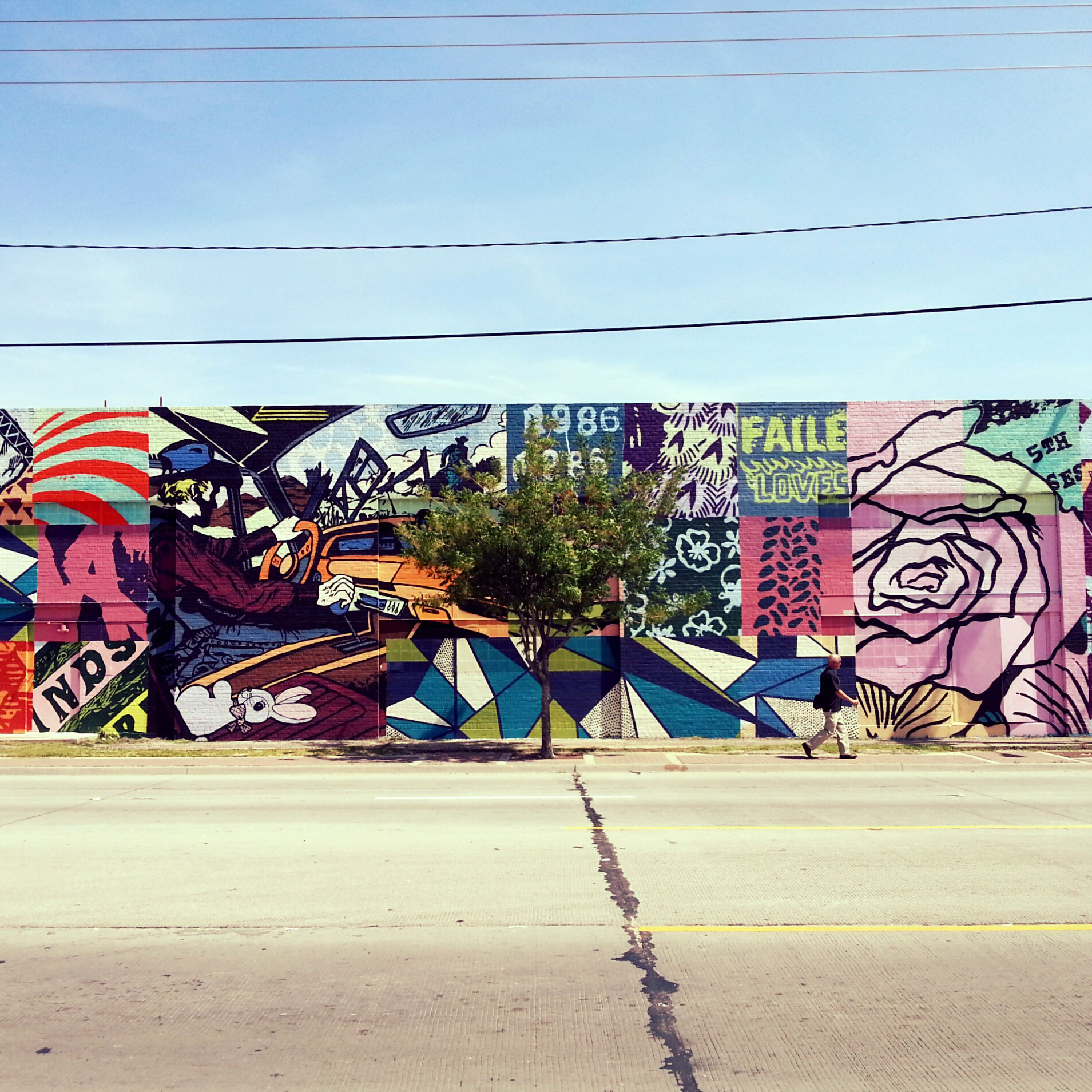 Graffiti wall dallas - The City S Free Wall Program Turned An Ugly Warehouse Into One Of Dallas Greatest Public Murals